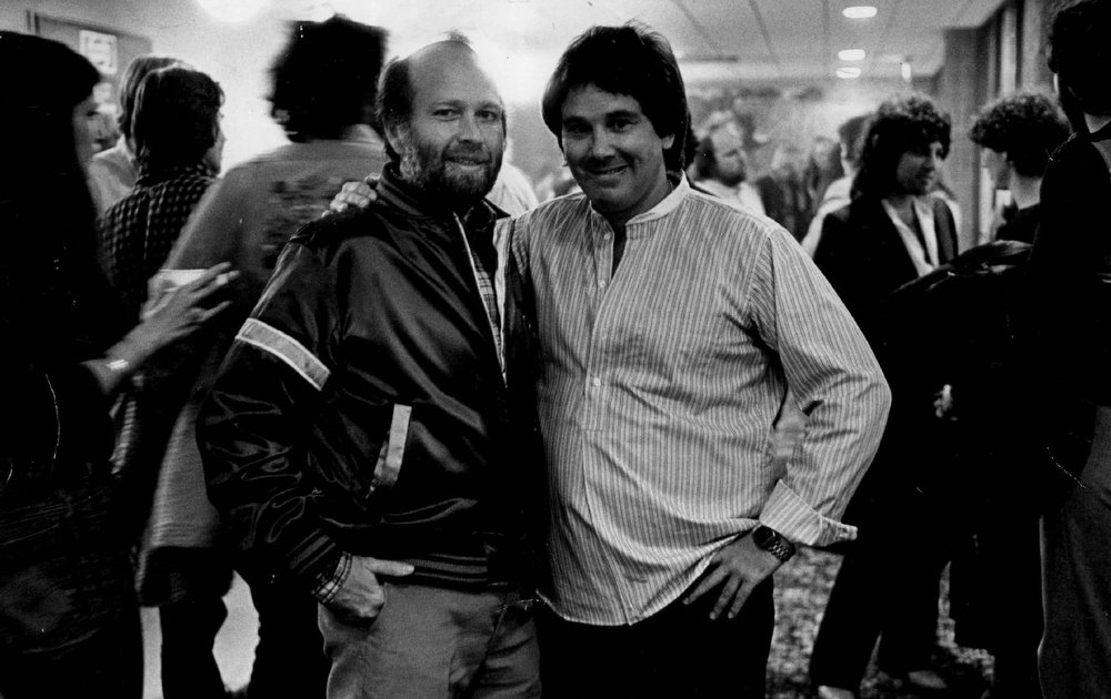 """. Barry Fey, left, and Chuck Morris--\""""We\'ve got some great rookie talent coming in.\""""  Photo By Ernie Leyba/The Denver Post"""