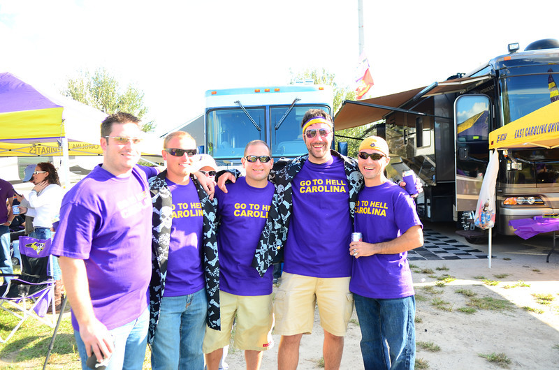 10/1/2011 ECU vs North Carolina  Chris K, JG, Jon Deutsch, Preston, Chris W