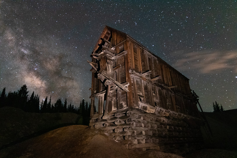Milky Way Over the New Monarch Mine