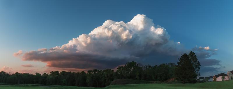 Mini Storm/ Storm Cloud Panorama at Sunset