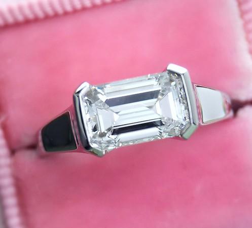 1.47ct Emerald Cut Diamond GIA E, VS1 in Plat R379