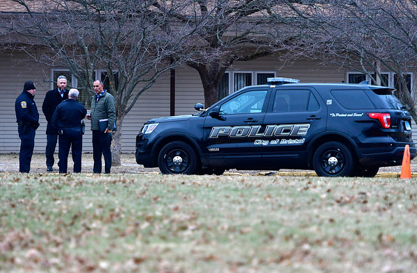 12/13/2018 Mike Orazzi || Staff Bristol Police on scene of a bomb threat at the Bristol Senior Center off Stafford Avenue Thursday afternoon.
