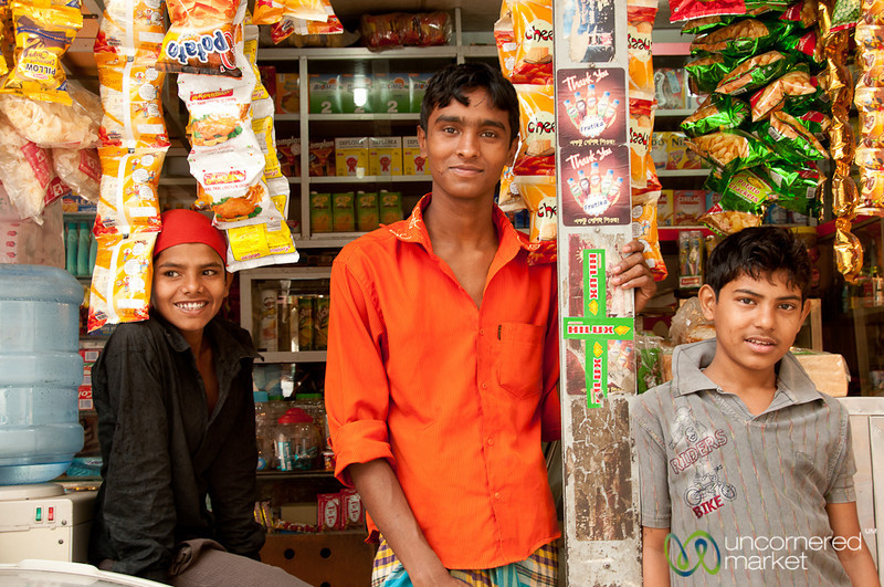 Hanging Out at the Corner Shop - Old Dhaka, Bangladesh