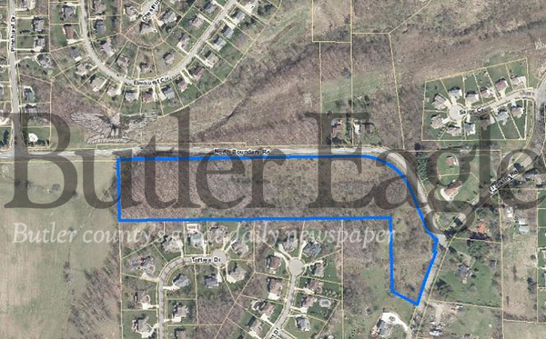 Photo ProvidedThis aerial photo shows the location of the Courtyards at Willow Grove on North Boundary Road in Cranberry Township.