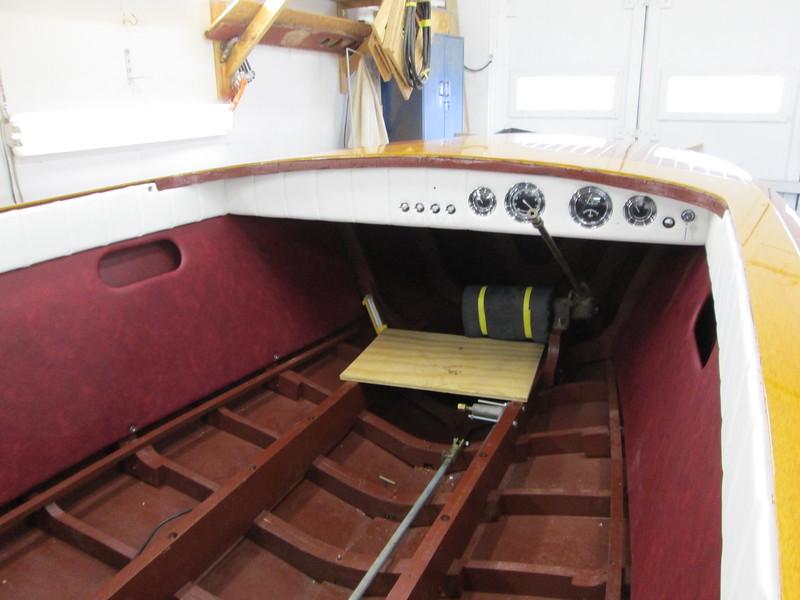 Cockpit liner and instrument panel installed.