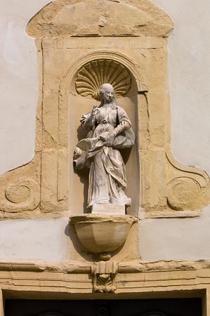 Europe, France, Provence, Carpentras, front facade detail, Notre dame de la Observance