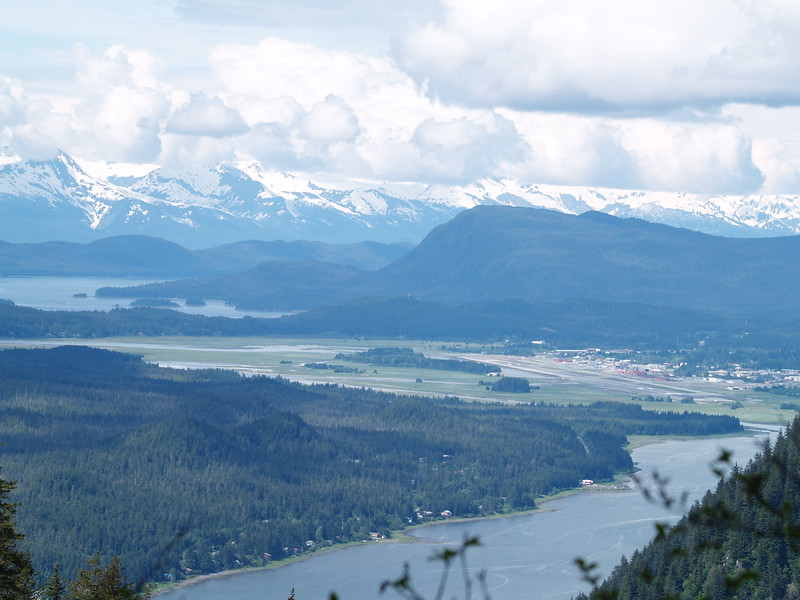Looking north toward the north end of Gastineau Channel and the airport