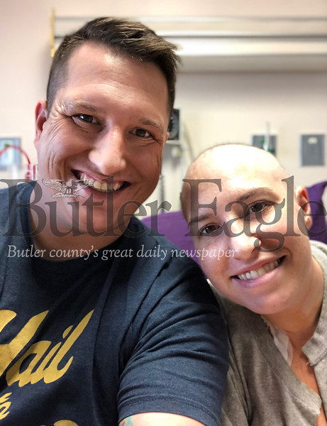 Ken Berkopec poses for a photo with his sister, Brie Lee. Berkopec will soon be a bone marrow donor to Lee, who is battling leukemia.