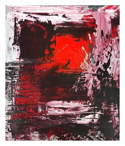 """""""Passion Red"""" (oil on paper) by Jesse Burke"""