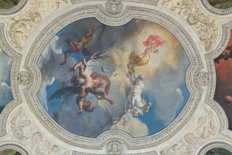 A ceiling at the Lourve.