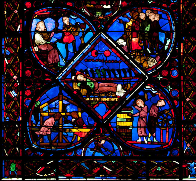 Bourges Cathedral - The Story of Joseph Window - Joseph Dreaming