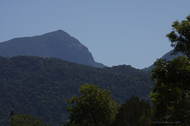 Mossman Bluff. This can be seen from the town of Mossman. People constanly mistake this for Devils Thumb, as the topographical map has it incorrectly marked as such.