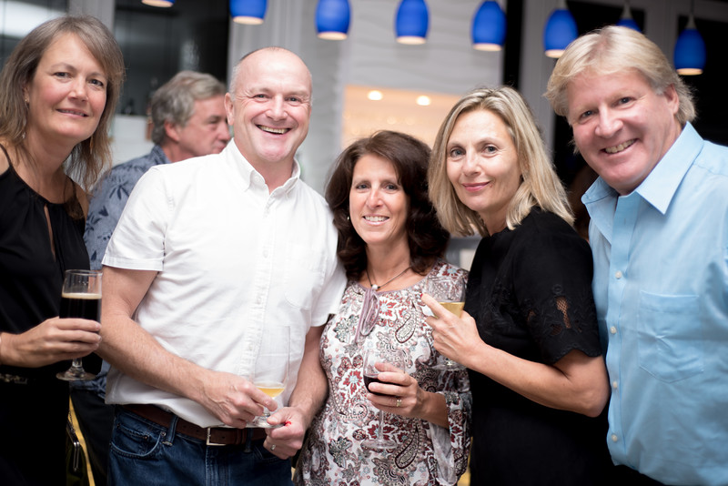 Eva Paprocki, Joseph Lee, Rosemary Macchia, Rina Kapicotto and Alan Greenberg unwinding at the Roof top party held by the Long Beach Chamber of Commerce at the Allegria Hotel. .jpg