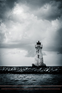 the old Cockspur Lighthouse off Tybee Isand, GA