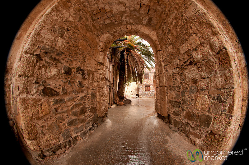 Spinalonga Fort in Fisheye - Crete, Greece