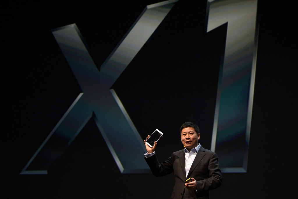 . CEO Huawei Consumer Business Group, Richard Yu, presents the Mediapad X1 at the 2014 Mobile World Congress in Barcelona on February 23, 2014.  The Mobile World Congress runs from the 24 to 27 February where participants and visitors alike can attend conferences, network, discover cutting-edge products and technologies at among the 1,700 exhibitors as well as seek industry opportunities and make deals.  LLUIS GENE/AFP/Getty Images