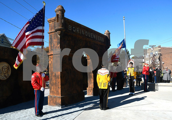 11/11/2017 Mike Orazzi | Staff The 65th Infantry Regiment Park, at the intersection of Beaver Street, LaSalle and Farmington Avenue in New Britain Saturday for one of the city's veterans day ceremonies.