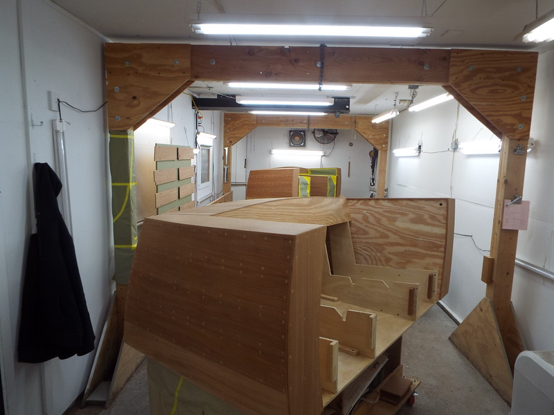 Moving pieces into the finish room.
