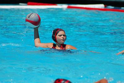 S & R Sport Junior Olympics 2009 - Platinum Division 12U Girls - Commerce Water Polo Club vs Diablo 7/31/09. Final score 10 to 3. CWPC vs DWPC. Photos by Allen Lorentzen.