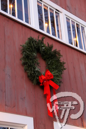 RESIDENT GARAGE — decked out for the holidays . . . along monument road — Orleans, MA 2009