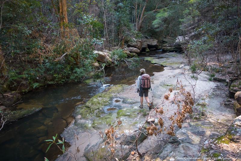 lovely slabby section of Angorawa Creek