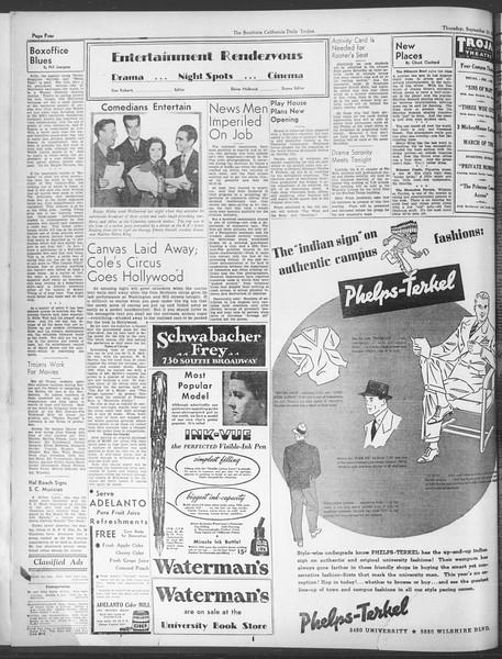 Daily Trojan, Vol. 28, No. 5, September 24, 1936