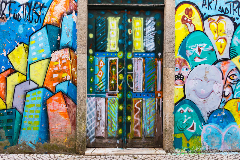 Wall Murals Along Portugese Streets