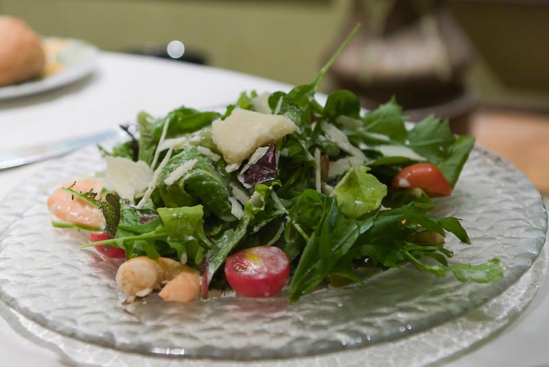 Salad.  It was rather plain but fresh so no complaints.