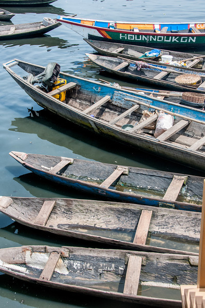 Fishing boats in Cotonou, Benin