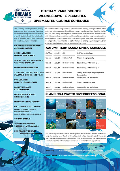 SDSDA Confined Water Itineraries DPS - Divemasters Autumn Wednesday 2019 After HT.jpg