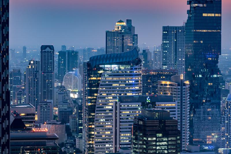 Cityscape of Bangkok view from Banyan Tree Bangkok Hotel