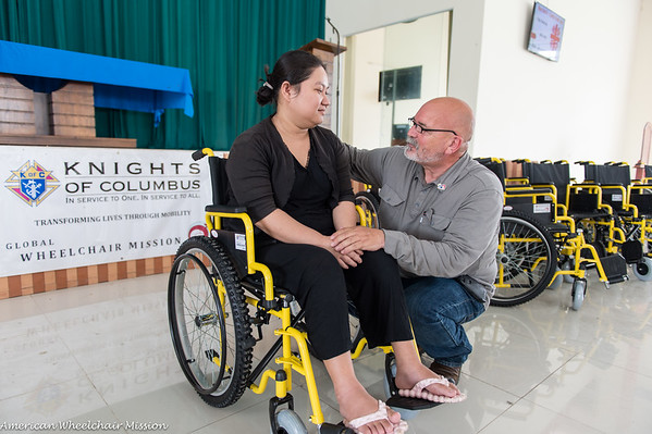 Wheelchair Distribution at Hoa Binh Catholic Vocational College