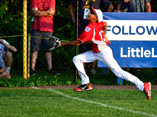 8/10/2019 Mike Orazzi | Staff New York-Haverstraw Little League's Jose Olivo Jr. (13) during Saturday's Mid Atlantic Final baseball game with New York at Breen Field in Bristol, Conn.