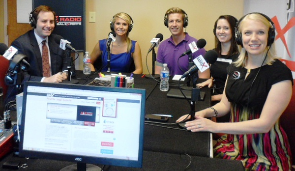 Starr Jarrard (second from left) on the Star 94 Morning Show.