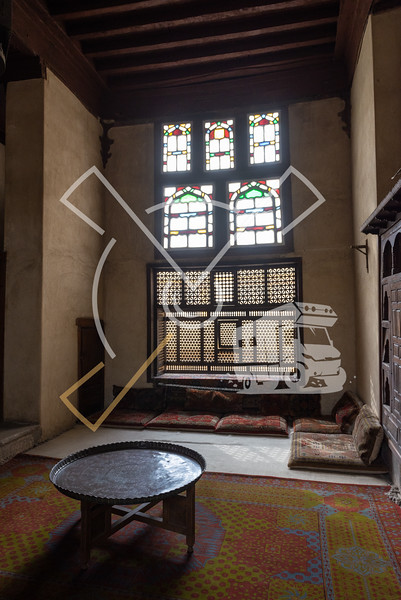 Interior room in the Bayt Al-Suhaymi, House of Suhaymi, is an old Ottoman era house museum in islamic Cairo, Egypt.
