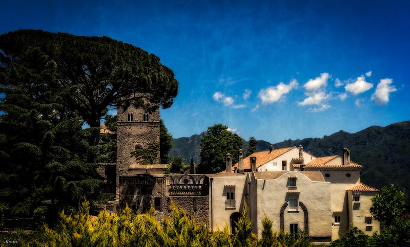 Sunset in Villa Cimbrone in Ravello