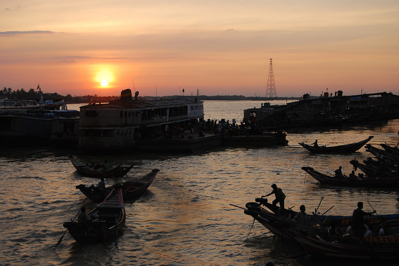 Yangon River at Sunset Myanmar (4).jpg