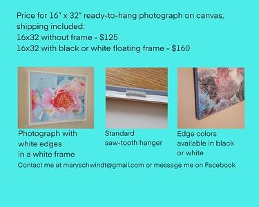 16x32 prints on canvas