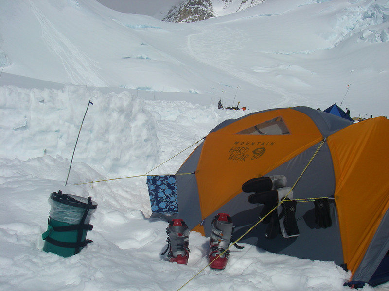 """The rest of the day - relaxing. The green """"gear"""" on the left side is CMC (Clean Mountain Can) - mobile toilet."""