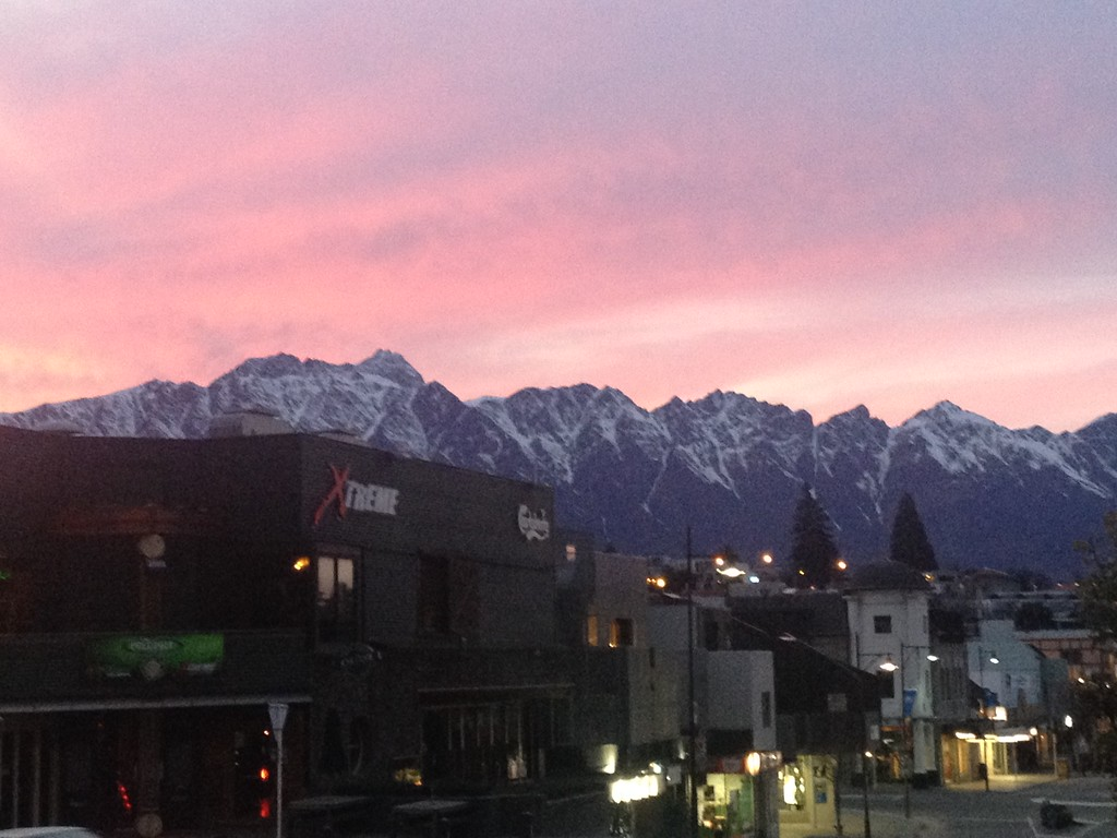 An Early Morning Winter Sunrise in Queenstown