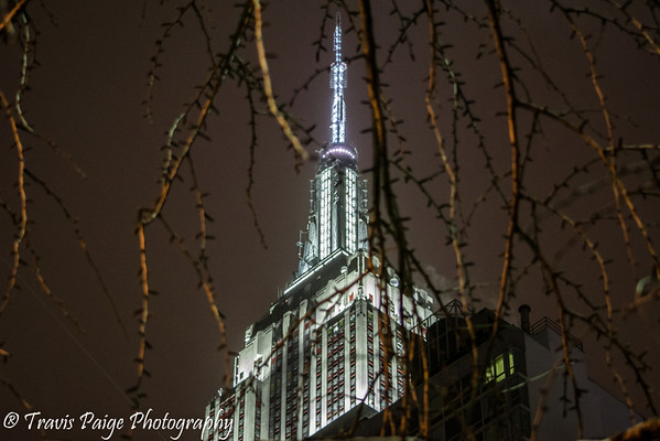 Cold Night Shots of the Empire State Buildng