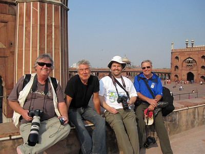 Our travel foursome in India, 2011