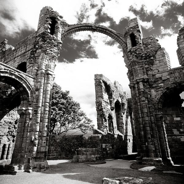 Lindisfarne Priory, Northumberland; arrested ruin