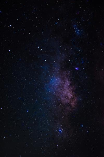 Made from 13 light frames by Starry Sky Stacker 1.3.1.  Algorithm: Dark Median