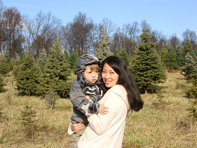 Chopping down our 1st Christmas Tree