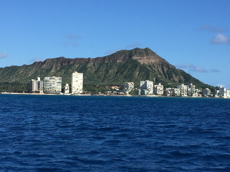 Diamond Head from the catamaran - 11/12/2018