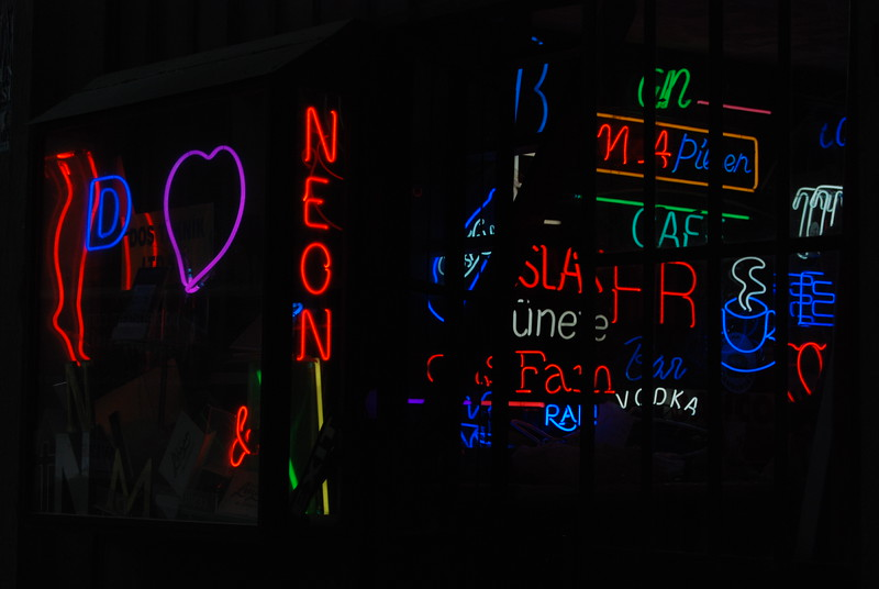 Neon store, Istanbul