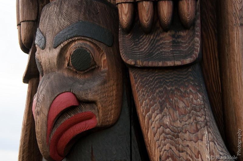 Totem pole, detail, Pike Place Market