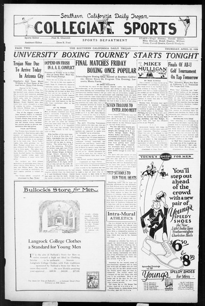 Daily Trojan, Vol. 17, No. 129, April 22, 1926