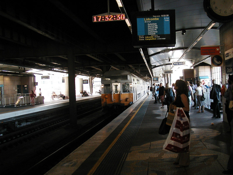 Waiting For Train at Circular Quay